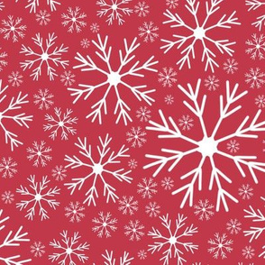 Snowflake on Dark Pink | JUMBO | Renee Davis