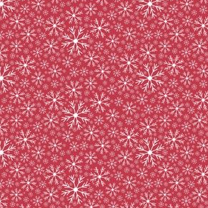 Snowflakes | Dark Christmas Pink | Renee Davis