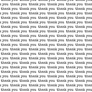Thank You Typography
