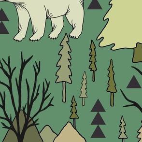 Woodland Bears - Large - Green