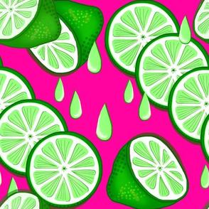 Lime Light Pop Art / Green-Pink