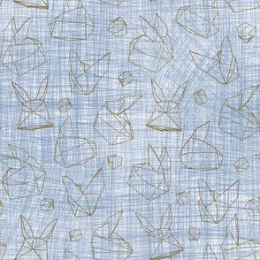 Origami Bunnies Metallic Outlines