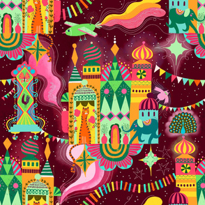 Wonderland magic world dark