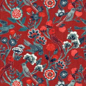 Indian Chintz {Red}