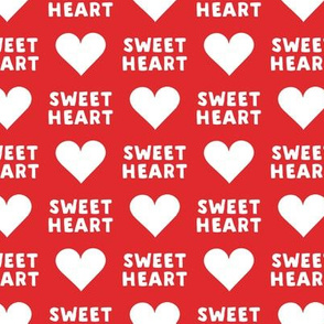 sweet heart - valentines- red - LAD19