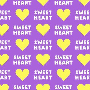 sweet heart - valentines- purple and yellow - LAD19