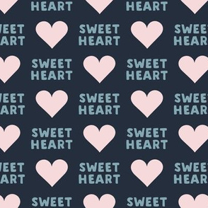 sweet heart - valentines-  blue and pink - LAD19