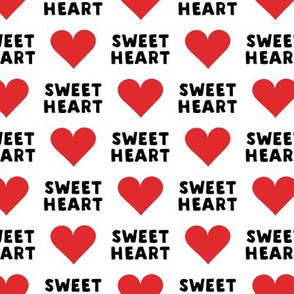 sweet heart - valentines- black and red - LAD19
