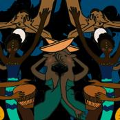 modern Afro pop all African print