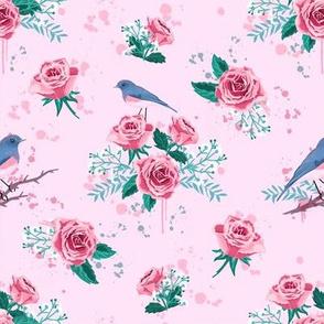 chintz Muster rosa 142 x 100 150dpi