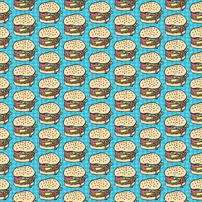 Mini Burgers in Blue