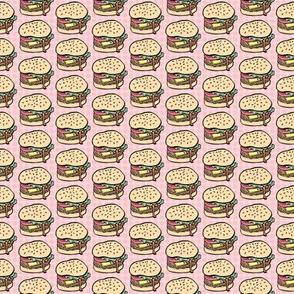 Mini Burgers in Pink