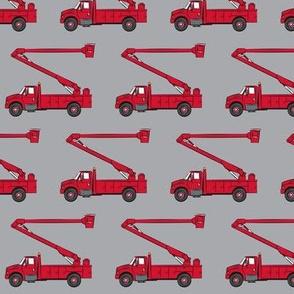 bucket trucks - red - LAD19