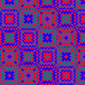 Tribal Quilt in Jewel Tones