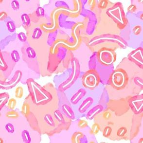Water Doodles Pink Fiesta