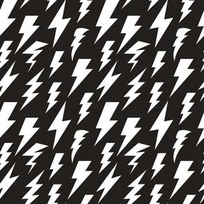 lightning bolt black linen