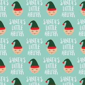 (small scale) Santa's Little Helper with cute elf - Mint - LAD19BS