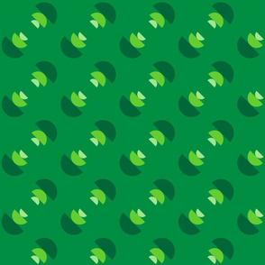 Green Tilted Bowls