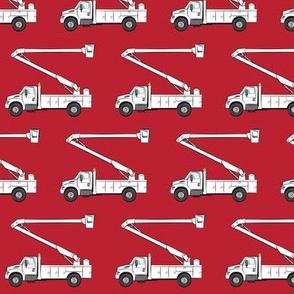 bucket trucks on red - LAD19
