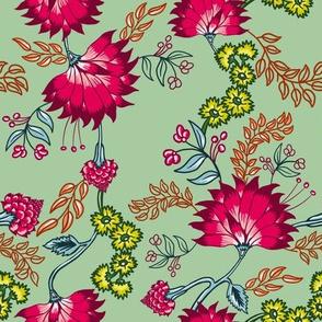 Magenta Florals