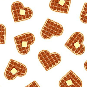 heart shaped waffles - go - valentines food - LAD19