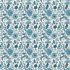 Succulent Blue Chintz