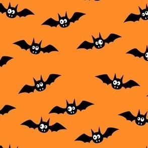"""(2.5"""" width) bats - cute halloween - orange - LAD19BS"""