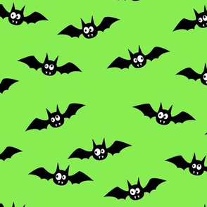 "(2.5"" width) bats - cute halloween - green - LAD19BS"