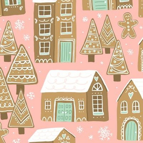 Gingerbread Village (Rose and Mint)