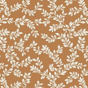 leafy stems camel brown