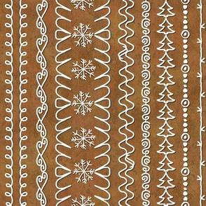 Gingerbread House Icing Sampler Stripes Trim