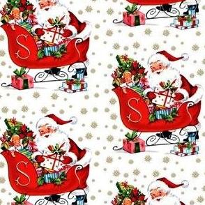 custom 3 inches santa claus sleigh snowflakes