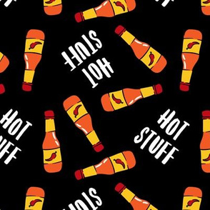 Hot stuff - hot sauce bottle - black - LAD19