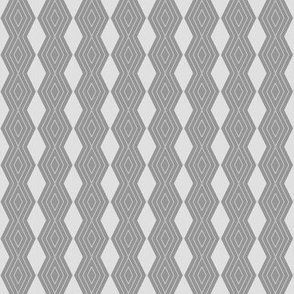 JP2 - Tiny - Harlequin Pinstripe Diamond Chains in Two Tone Pewter Grey