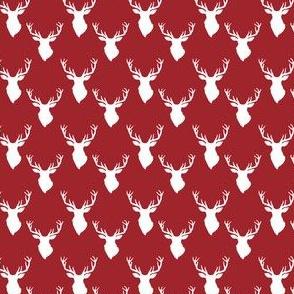 """1.3"""" White Deer Red Back"""