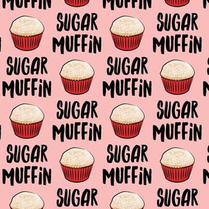 Sugar Muffin - Valentines - black on pink - LAD19