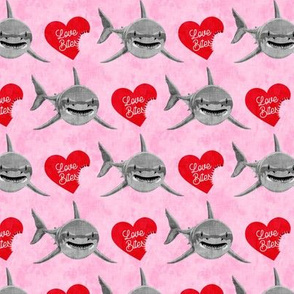 Love Bites - Shark Valentines - Red and Pink - LAD19