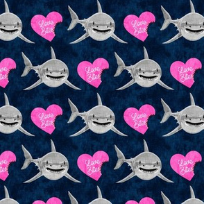 Love Bites - Shark Valentines - Blue and Pink - LAD19