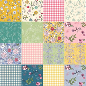 Spring Cottage Patchwork Quilt