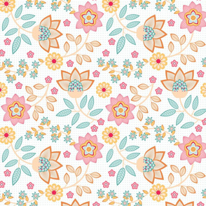 chintz in pink and teal