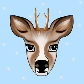 Deer blue with Stars