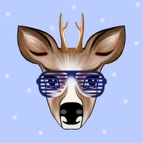 Deer blue with Party glasses