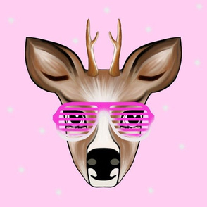 Deer pink with Party glasses