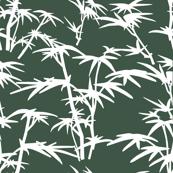 White Bamboo Bushes on green background