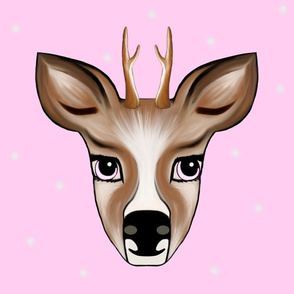 Deer pink with Stars
