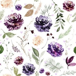 Purple Crush Florals and Hearts