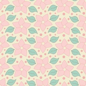 Yellow and pink floral pattern