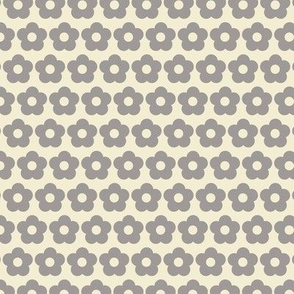 Yellow and grey floral pattern
