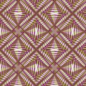 Under the Boardwalk* (Split Pea Soup & Vesuvius) || || pinwheel abstract kaleidoscope black and white stripes zig zag stars diamonds geometric African wax print industrial constructivist