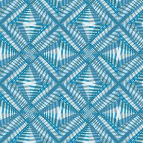 Under the Boardwalk* (Camouflage & Sky) || pinwheel abstract kaleidoscope black and white stripes zig zag stars diamonds geometric African wax print industrial constructivist